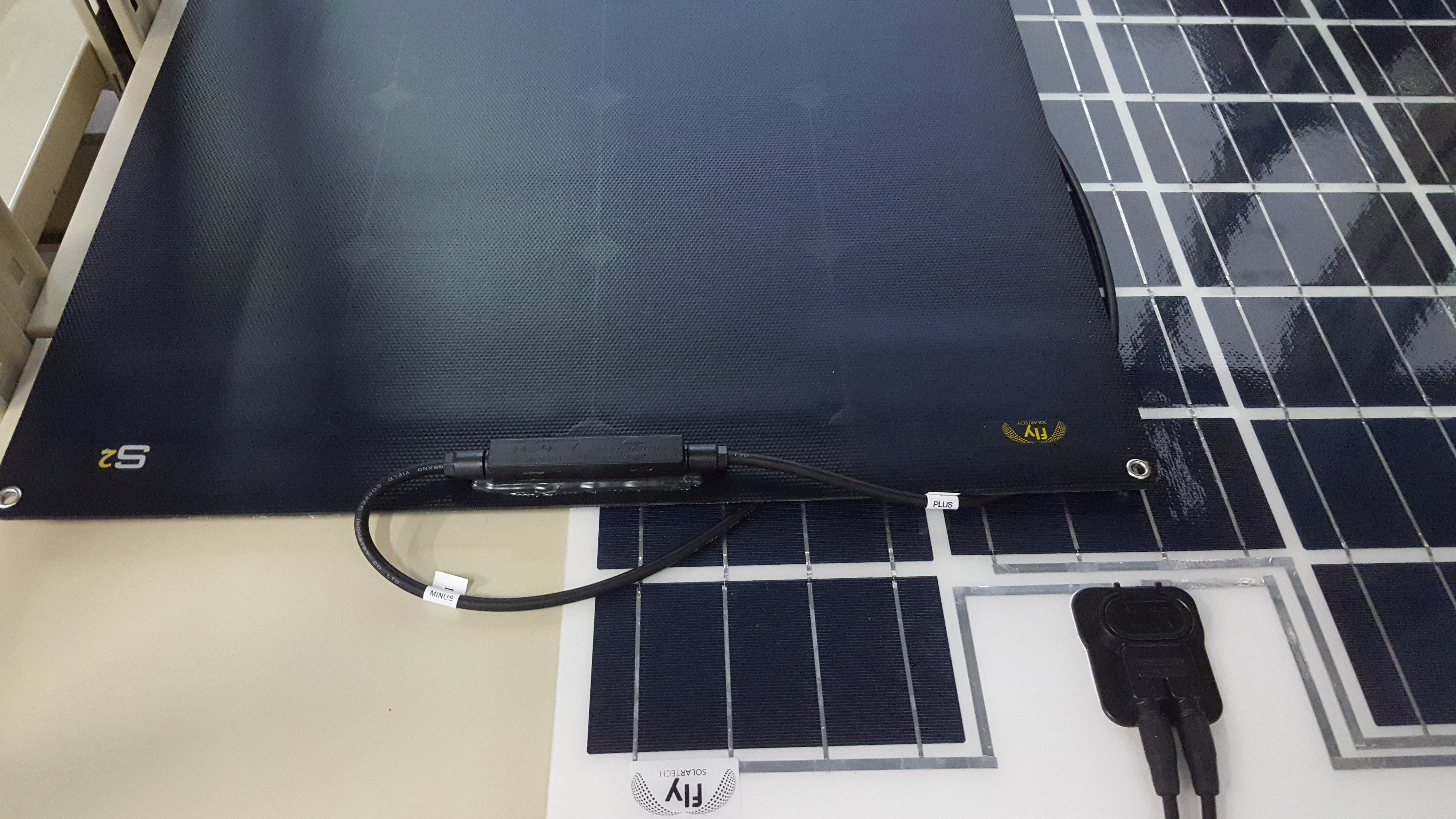 How To Install Solar Panel On Bimini Fly Solartech Solutions Srl Marine Wiring Use The Hook And Loop Attach Panels